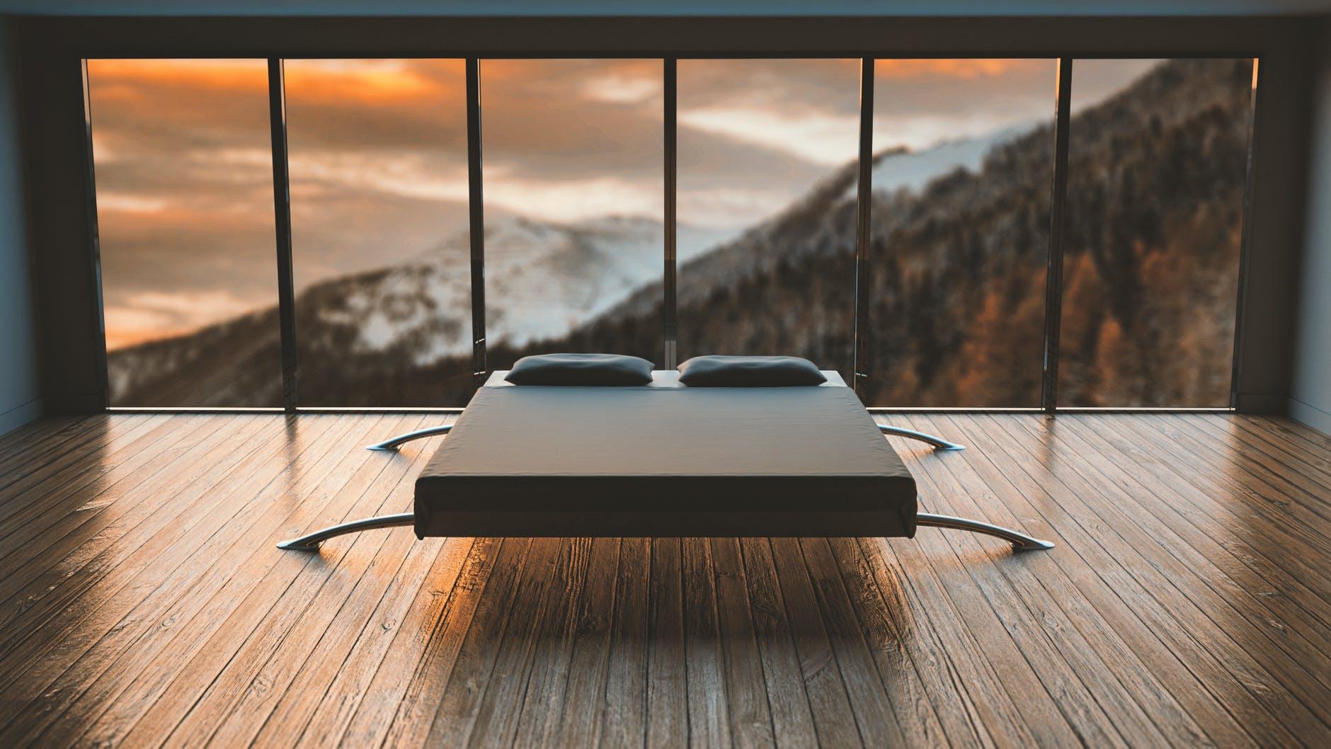 posteľ, výhľad